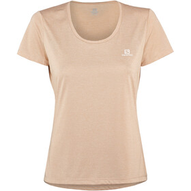 Salomon Agile SS Shirt Women sirocco/heather/shell